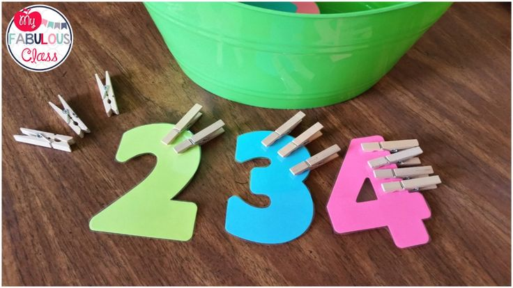 Clothes pins and number die cuts. Perfect fine motor activity for back to school.