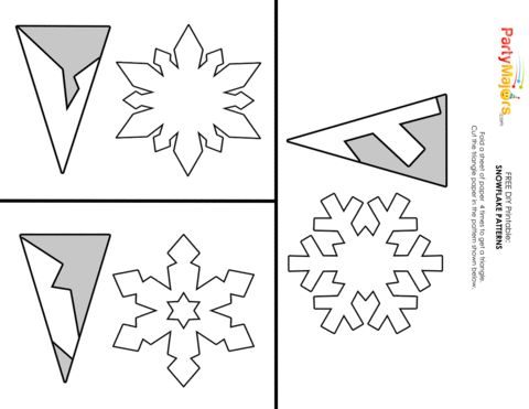 Christmas snowflake paper cut out