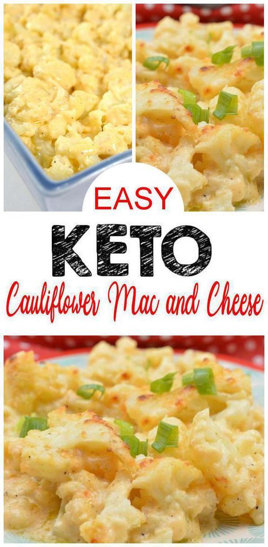 Easy Keto Cauliflower Mac And Cheese Low Carb Mac Cheese Idea