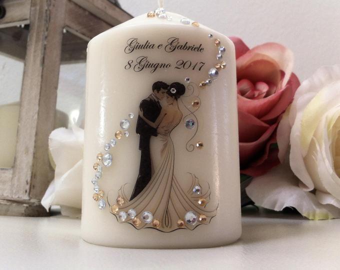 Bomboniere Matrimonio Personalizzate.Personalized Favor Candles For Wedding Matrimonio Bomboniere