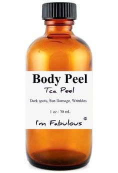 Body Peel, TCA Chemical Peel for Home Use, Sun Damage and brown spots.