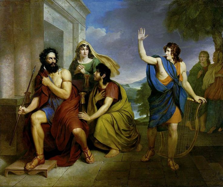 Brodowski Saul's anger at David - Category:Saul throwing spear at David - Wikimedia Commons