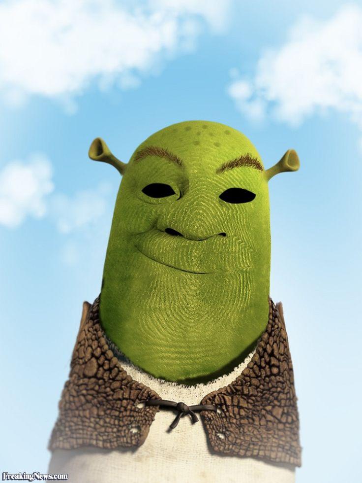 Shrek Finger Portrait