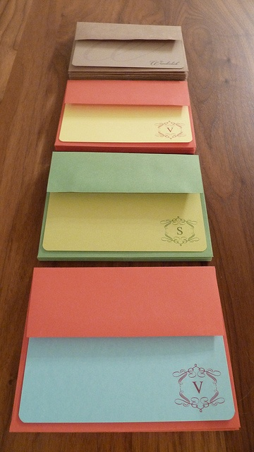 Handmade stationary sets for Christmas gifts to family