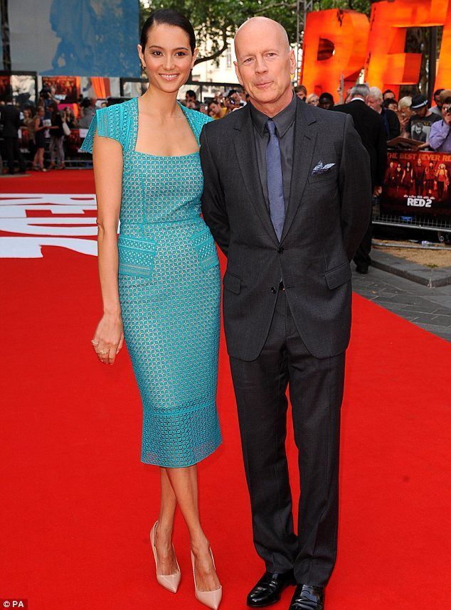 Bruce Willis and his wife Emma made an appearance on the red carpet