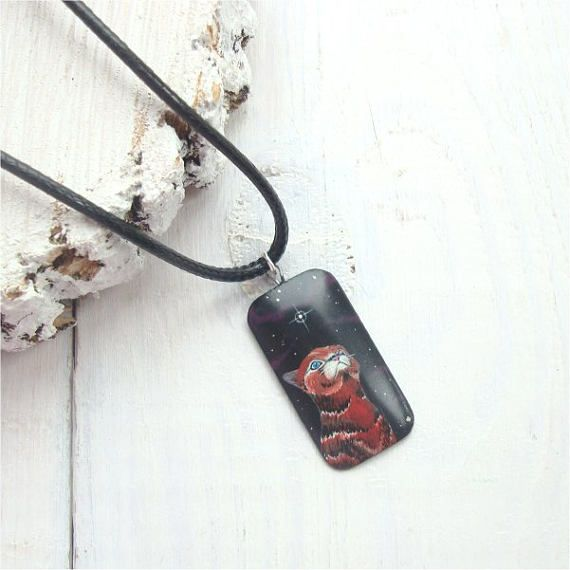 Cat jewelry eco jewelry eco friendly wood wooden pendant