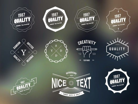 Hipster Bagdes Insignia Vector Free