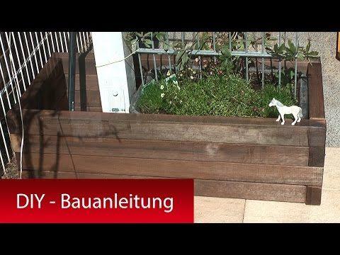Pflanzkasten, Pflanzkübel mit Rankhilfe selber bauen - DIY Tutorial Bauanleitung - YouTube