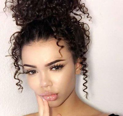 prom hairstyles mixed curly