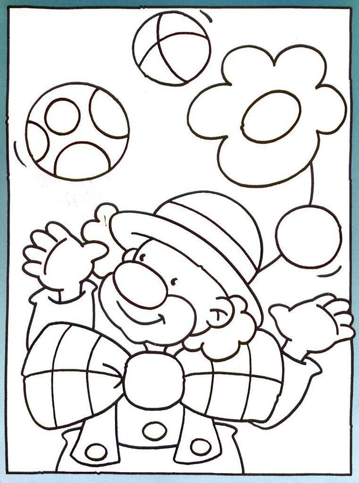 coloring clown - Google zoeken