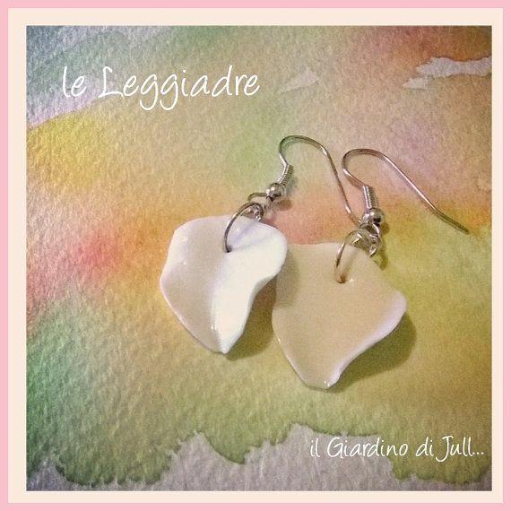 porcelain dangling earrings Le Leggiadre by IlGiardinodiJull
