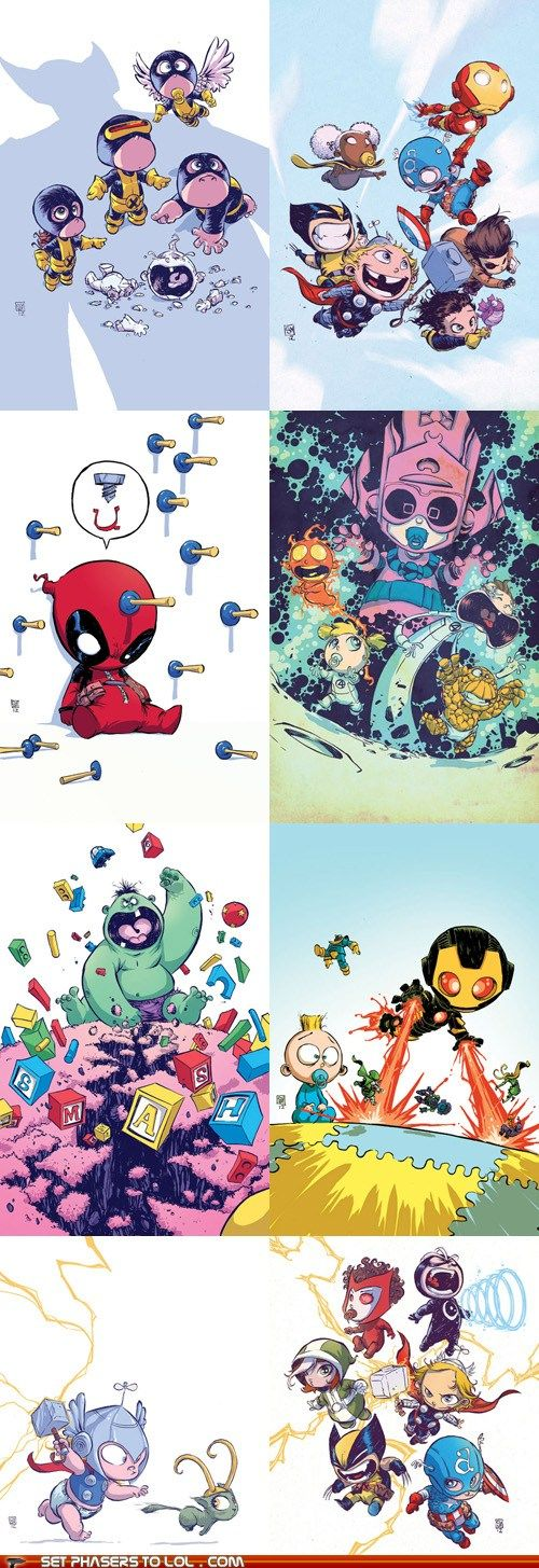 Set Phasers to LOL: Marvel Babies - Cheezburger