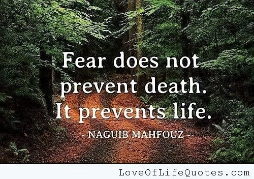 Don't let fear control you any longer.