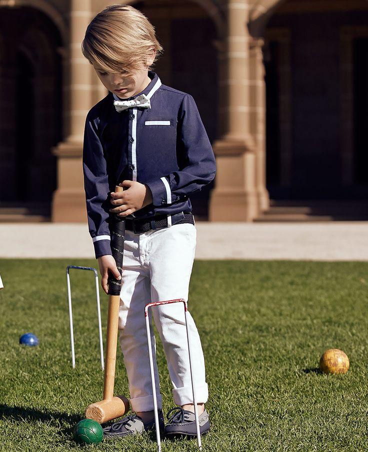 Little Boy's Parker Contrast Shirt - Bardot Junior