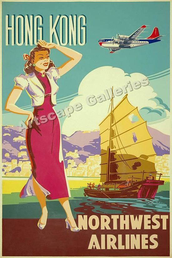 Back in the late 1940′S and early 1950′s, Northwest Airlines established transpacific flights and started going by the name Northwest Orient Airlines. To make these flights, and other flights that they were already offering more appealing and exciting, they hired artists to create travel posters highlighting the best parts of these locations. The end result is timeless travel posters that are beautiful even by today's standards.