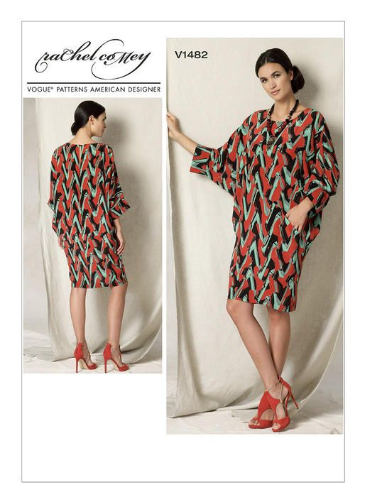 V1482 | Vogue Patterns - inspo for printed tropical rayon knit
