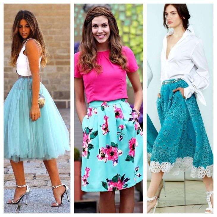 бирюзовая юбка комплекты