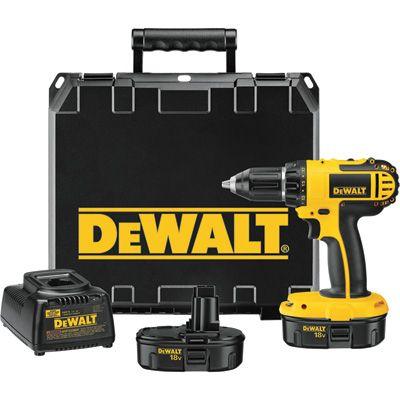 FREE SHIPPING — DEWALT Compact Cordless Drill Kit — 18 Volt, 1/2in., Model# DC720KA