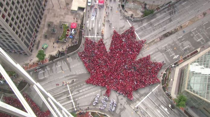 Live Maple Leaf Canada Day 2017
