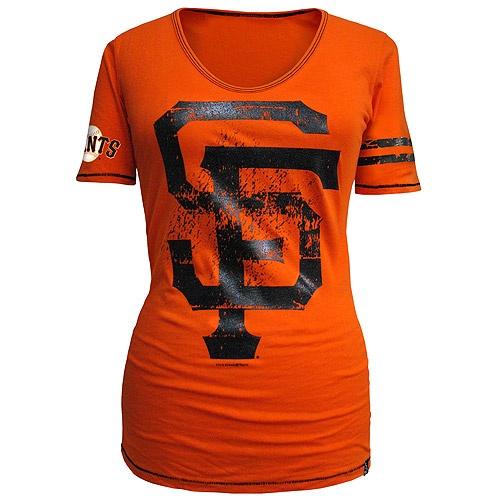 San Francisco Giants Women's One Sleeve Stripe T-Shirt by 5th & Ocean >> my favorite new top that i've seen so far @bellarogue32
