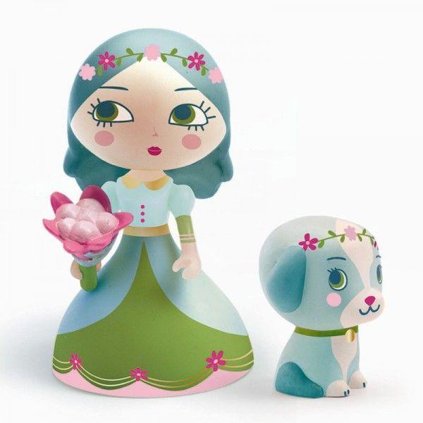 Djeco Arty Toys Figur Prinzessin Luna mit Hund Blue - Bonuspunkte sammeln, auf Rechnung bestellen, DHL Blitzlieferung!