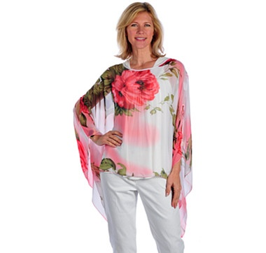 Buy Orange Fashions Floral Print Chiffon Top, Orange Fashions and Blouses from The Shopping Channel, Canada's home shopping network - Online Shopping for Canadians