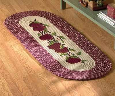 Derby house apple rug decorations