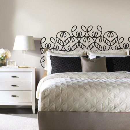 Modernized Headboard Wall Decals For Bedrooms