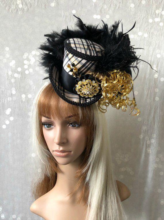 efb5b0bd2 Mini Top hat, New Year's Eve Mini Top Hat, Christmas Mini Top Hat ...
