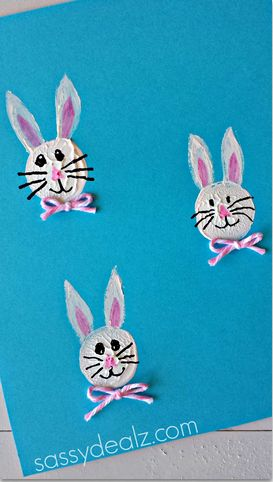 Bunny Craft Using a Wine Cork for a Stamp - Sassy Dealz