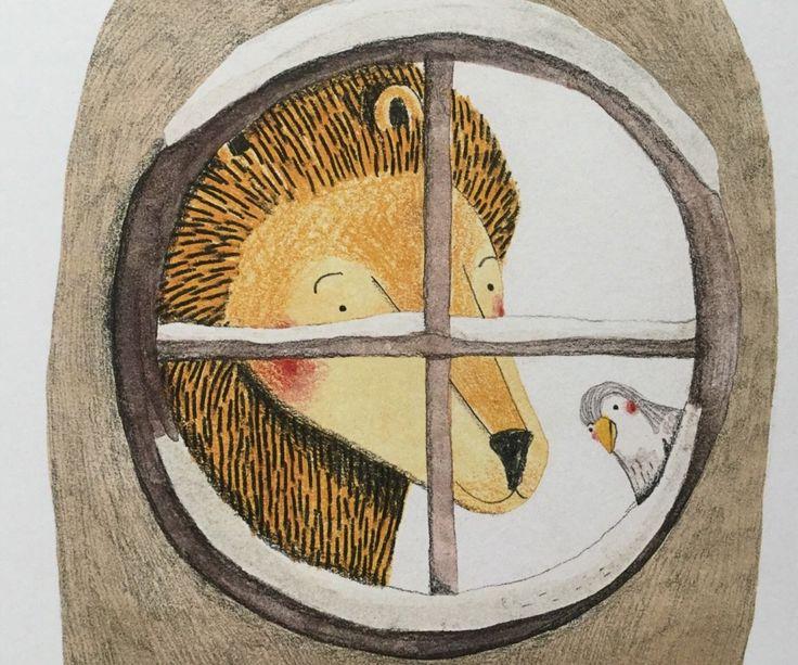 il leone e l'uccellino, Marianne Dubuc, Orecchio Acerbo