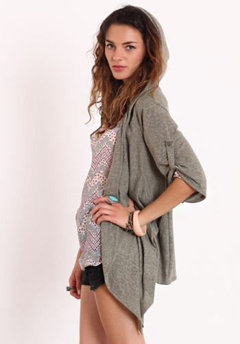 Military Hoodie Cardigan by Alternative Apparel  I really like this cardigan..