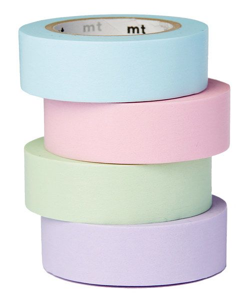 Look at this Four-Piece Pastels Tape Roll Set on #zulily today!