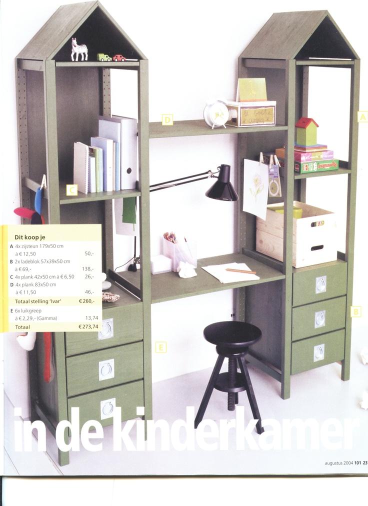 Ivar Hack stellingkast met bureau ivar ikea kinderkamer bureaus met and ikea