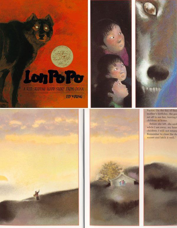 Lon Po Po: A Red Riding Hood Tale from China, written and illustrated by Ed Young.