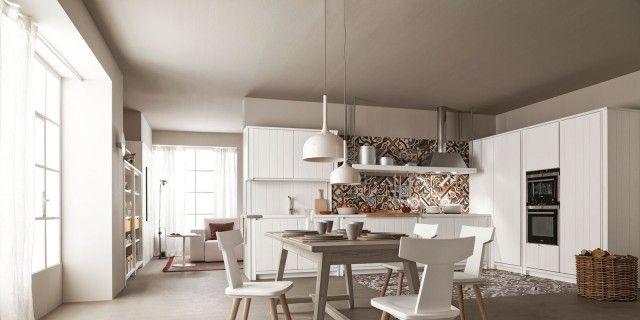 cucina bianca rende questi modelli facili da ambientare: si possono accostare senza problemi a un living classico arredato con mobili in legno o a uno moderno con pezzi molto colorati