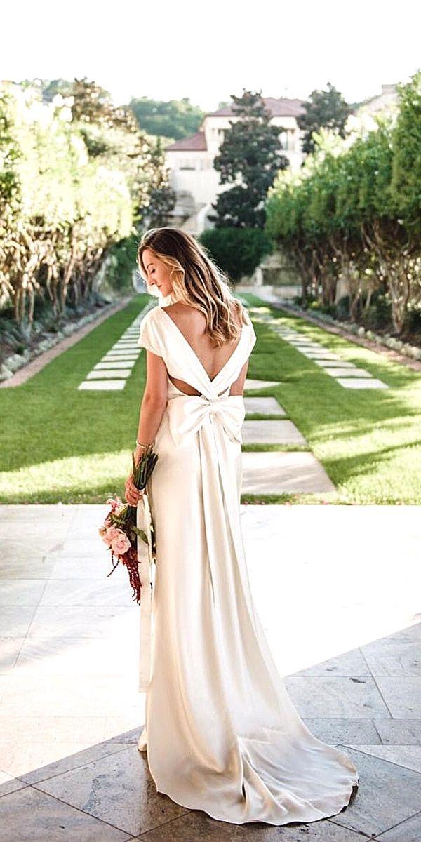 24 Simple Wedding Dresses For Elegant Brides ❤ See more: http://www.weddingforward.com/simple-wedding-dresses/ #wedding #dresses