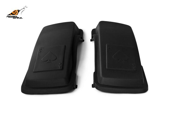 RS hard saddlebag lids ace of spades design for touring 1993-2013 Image