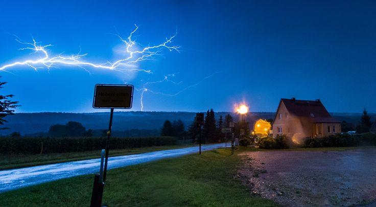 Diese Gewitterfront ging im August 2014 über Hohenfelden nieder. Foto: Sascha Fromm