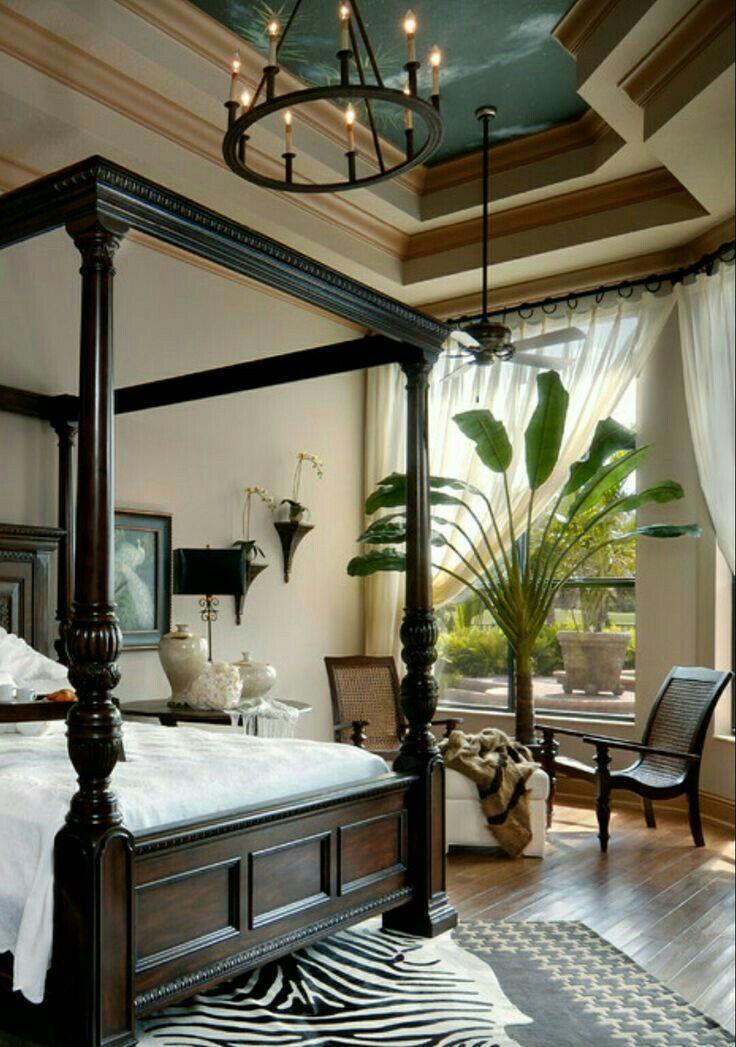 Tropical Decor. British Colonial Style. Elegant master