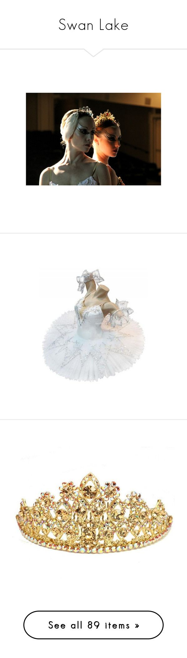 """""""Swan Lake"""" by glamgore ❤ liked on Polyvore featuring dance, costumes, ballet, dresses, tutu, backgrounds, ballet halloween costumes, ballerina costume, ballet costumes and ballerina halloween costume"""