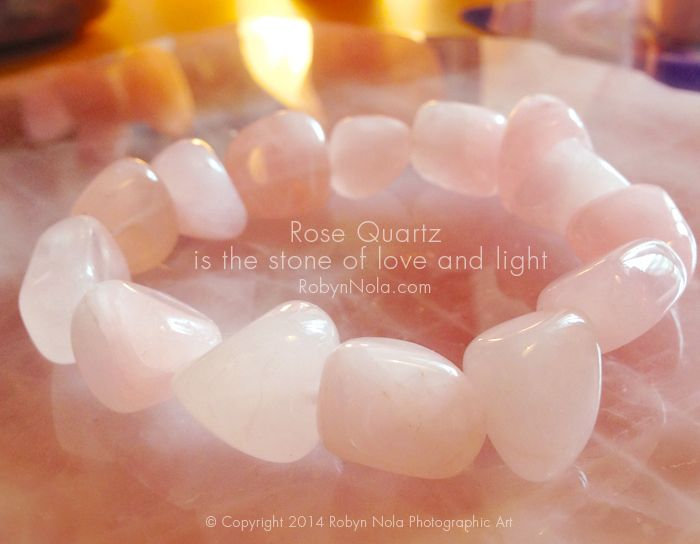 Rose Quartz is the stone of love and light. ♥