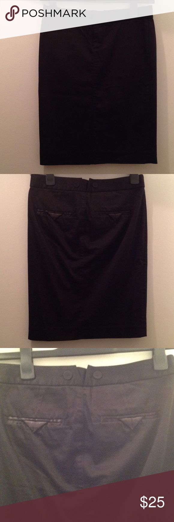 Armani Exchange black skirt Straight black skirt with two back pockets. Zips in front. Perfect work skirt. A/X Armani Exchange Skirts Pencil