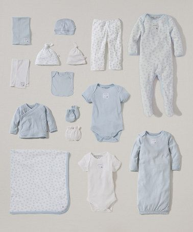2f51d3d79 Love this White & Sky Organic 15-Piece Layette Set - Infant by ...