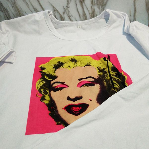 Marilyn Monroe Pop Art Popular Picture Andy Warhol Autograph Neorealismo Design Illustration Pattern Crew-Neck White T-shirt Spring and Summer Tagless Comfort Cotton Sports T-shirts  #MarilynMonroe #Pop #Art #Popular #Picture #Design  #White #T-shirt #Spring  #Summer #Cotton #Sports