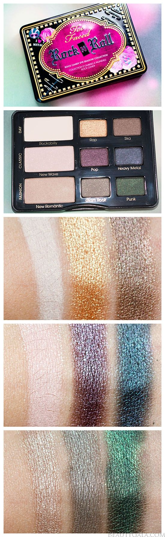 Too Faced Rock n Roll Eyeshadow Palette Swatches