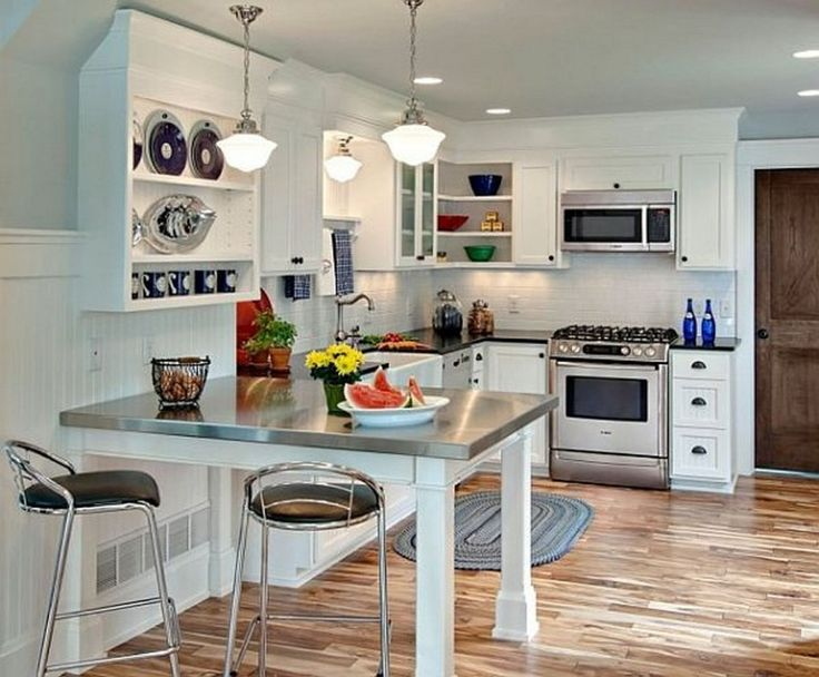 Stainless Countertop And Dining Table In Small Kitchen Design Amazing Small Kitchen And Dining Design 2018
