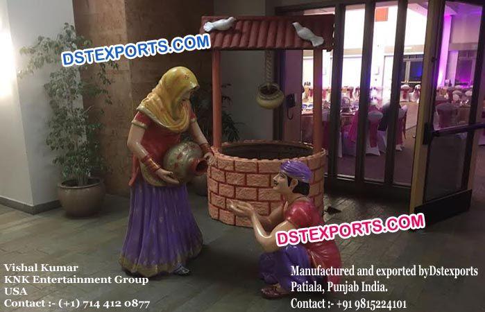 #Punjabi #Theme #Wedding #Decor #Fiber #Statue #Dstexports