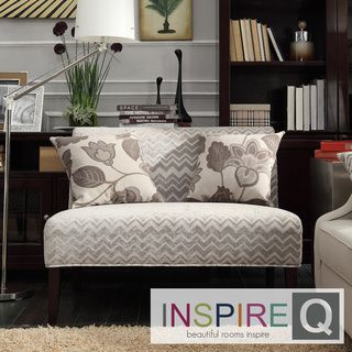 this kayla armless loveseat is covered in an elegant print upholstery that will brighten up your home decor the simple color scheme and the understated