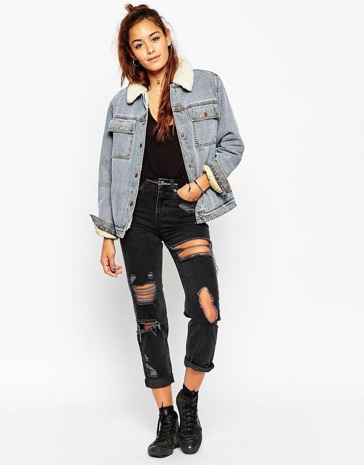 Veste en jean femme emple